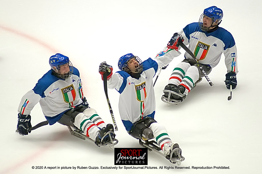 Italia vince torneo internazionale ice sledge hockey Torino 2020
