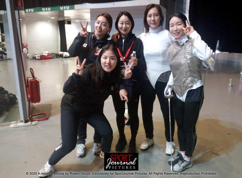 Fencing Cup Women Korean Team